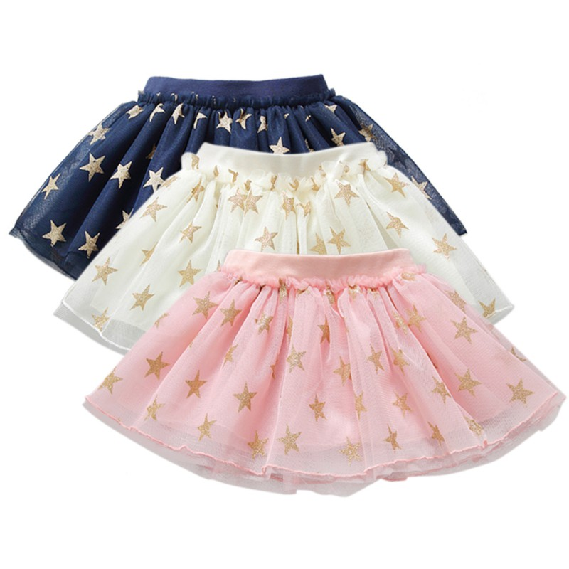 58fa485052 Kids Baby Girls Tutu Skirt Outfit Casual Dress Stars Printed Costume ...