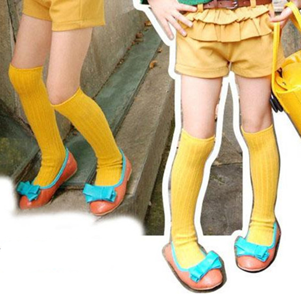 Toddler Baby Boys Girls Knee High Socks School Cotton