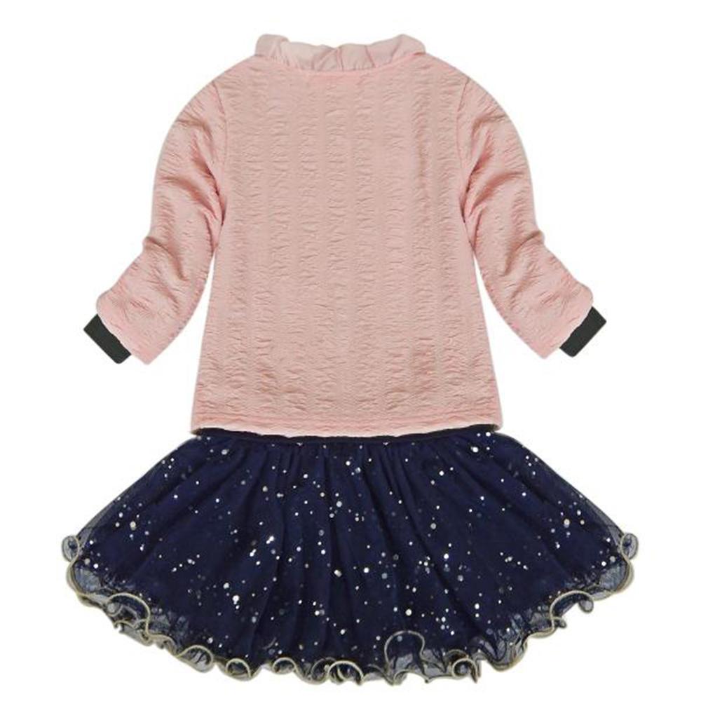 Shirt design for baby girl - 3pcs Baby Girls Top Coat T Shirt Skirt