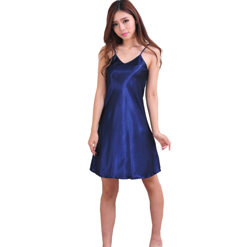 women lady silk robe dress set nightgown lingerie babydoll nightdress sleepwear ebay. Black Bedroom Furniture Sets. Home Design Ideas
