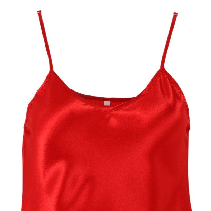 Plus-Size-Women-Sexy-Vneck-Lingerie-Silk-Robe-Dress-Babydoll-Nightgown-Sleepwear