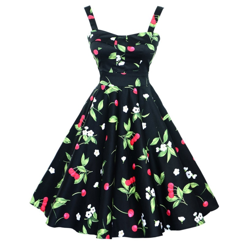 Women-Swing-50s-60s-Retro-Housewife-Pinup-Vintage-Rockabilly-Evening-Party-Dress