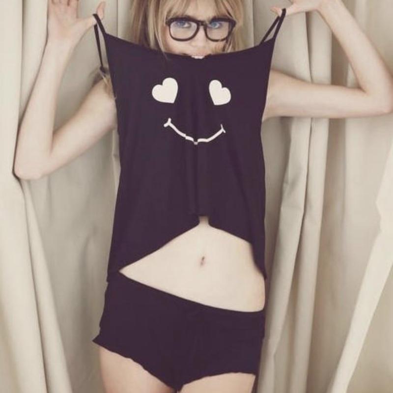 2Pcs Set Women Cotton Braces Short Vest+Shorts Sleepwear Pajamas Lady  Nightwear 4 4 of 11 ... 381b85957