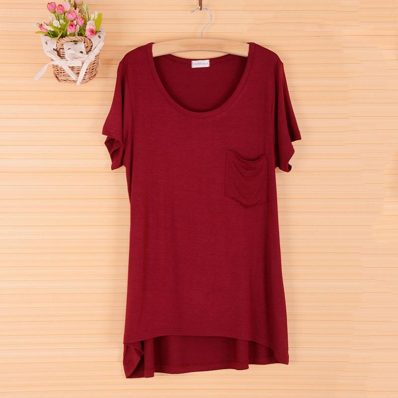 Women Short Sleeve T Shirt Casual Tee Shirts Blouse Pocket