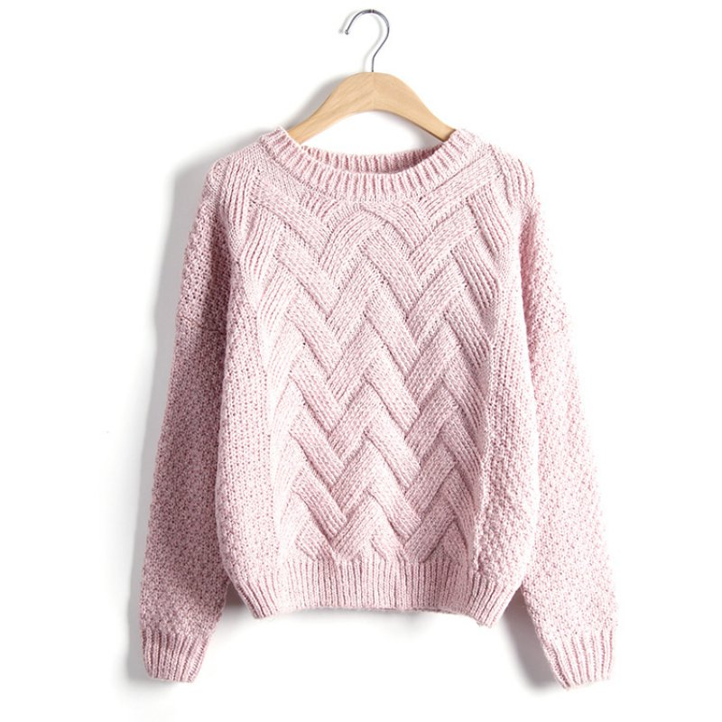 Women's Loose Knitted Jumper Sweater Casual Long Sleeve Tops ...