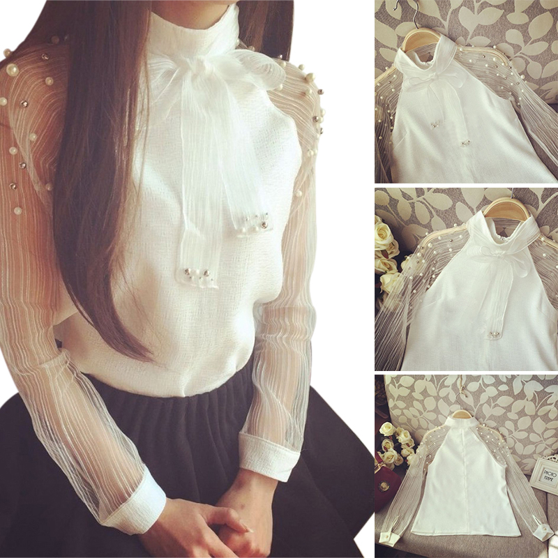 White Casual Blouse 8