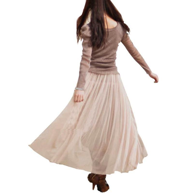 fashion high waist pleated skirts