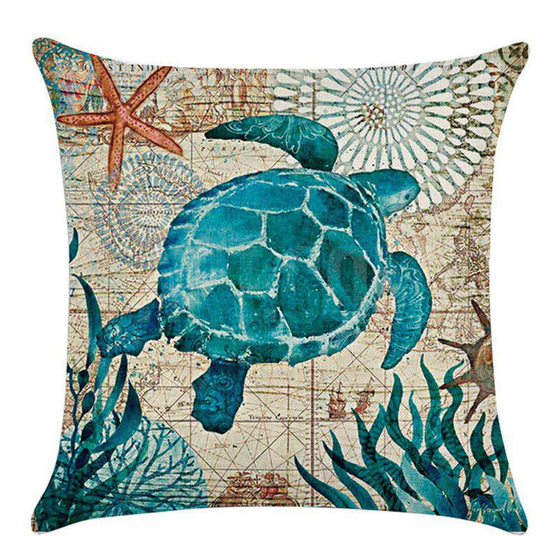 Throw Pillows Sofa Cushion Home Sea Life Marine Ocean Animal Cushion Cover UK eBay