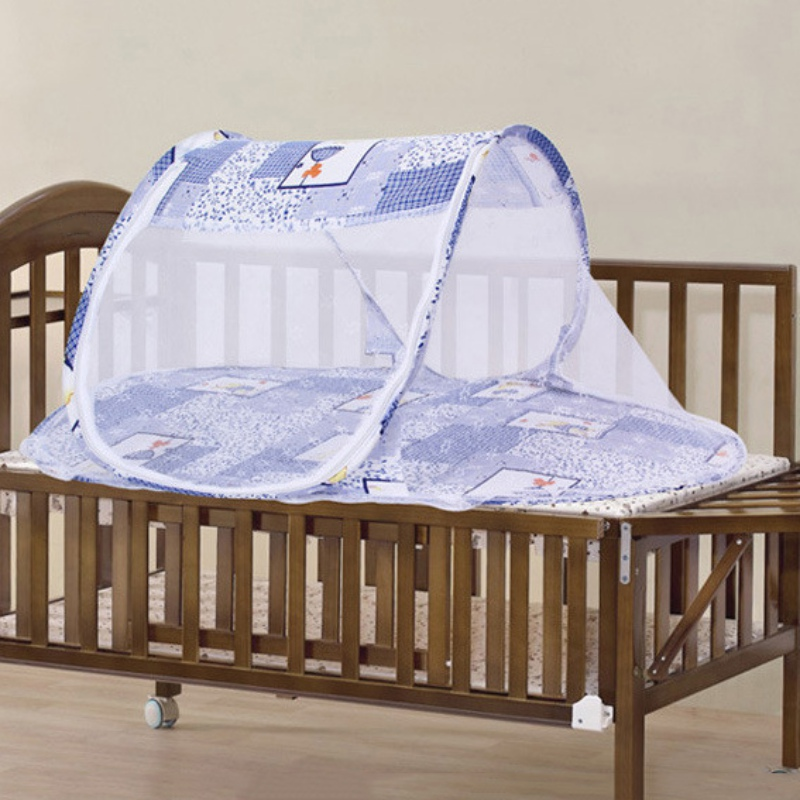 foldable baby kids infant cradle mosquito net bed crib canopy mattress net tent ebay. Black Bedroom Furniture Sets. Home Design Ideas