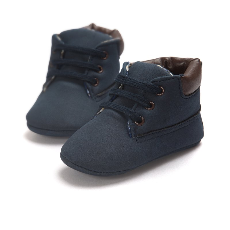 Baby Toddler Shoes Boy Girl Ankle Boots Lace-Up Crib Shoes ...
