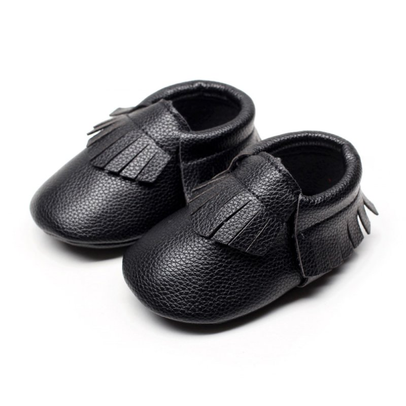 0 18 month infants baby soft sole pu leather shoes tassel