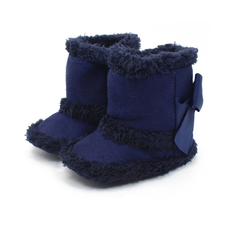 cute baby child boys girls warm snow boots fur winter