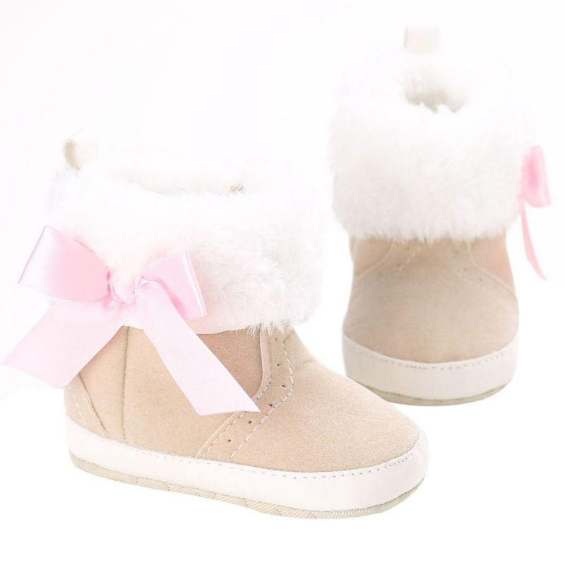 Toddler Infant Baby Girls Winter Snow Booties Soft Sole Crib Shoes Warm Boots | EBay