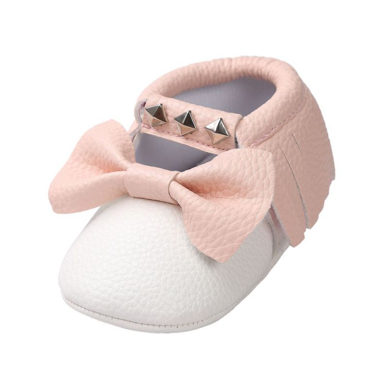 0 18M Baby Tassel PU Leather Soft Sole Shoes Infant Girl