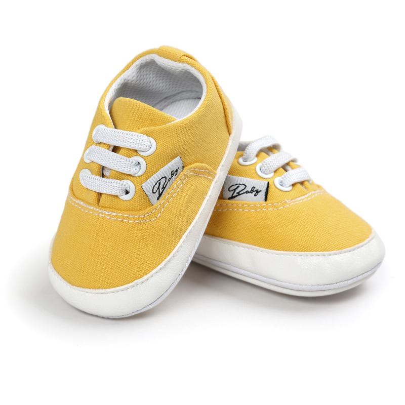 Infant Baby Girl Boy Soft Sole Canvas Sneakers Infant Crib