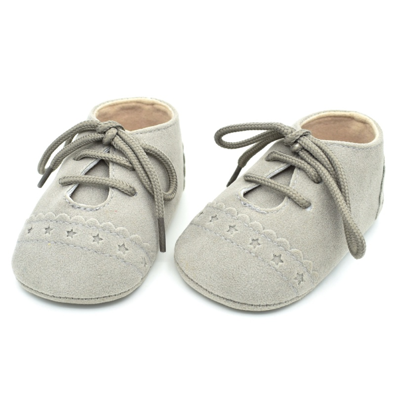 Infant Baby Boy Girl Soft Sole Crib Shoes Leather Sneaker
