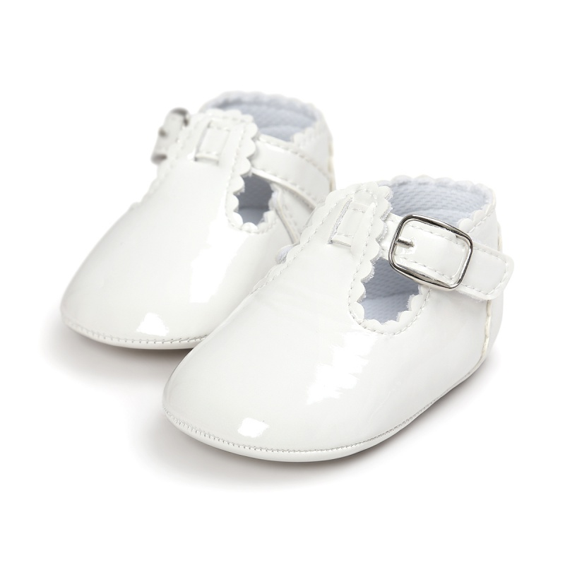 Newborn Baby Girl Spanish Style Patent Crib Shoes Princess Mary Jane