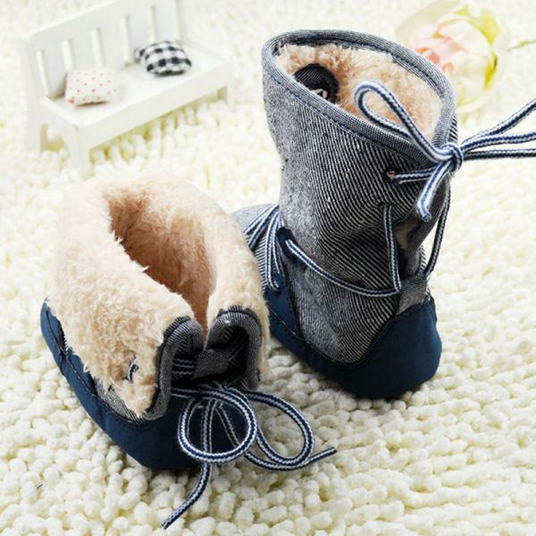 2debb10fe1d4 18 Styles Baby Kids Boys Girls Winter Warm Snow Boots Fur Crib Shoes ...