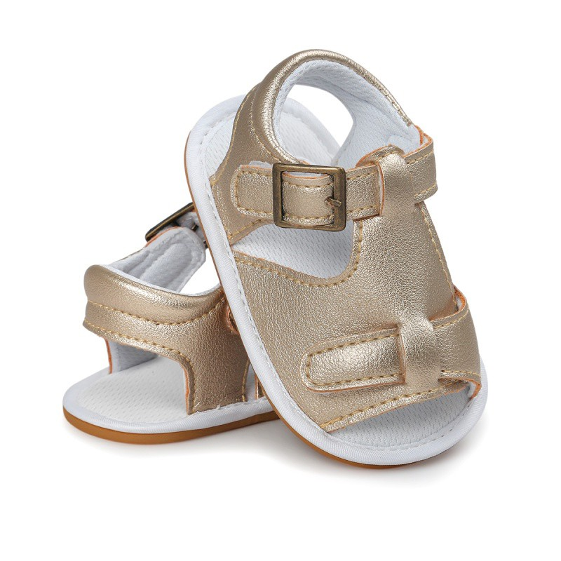 Summer Baby Boy Girl Sandals PU Leather Anti Slip Crib