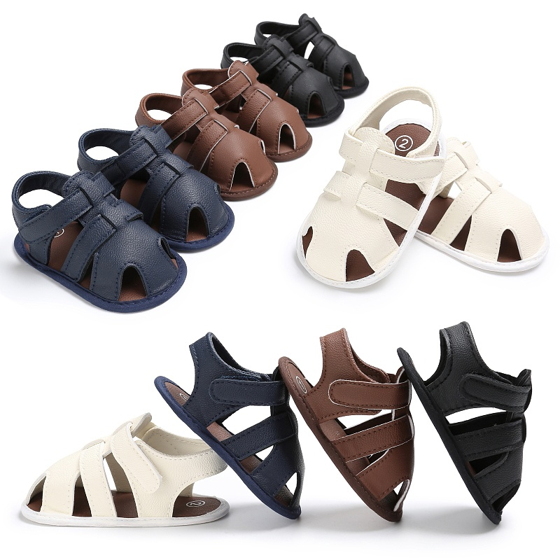 0 18M Toddler Kids Baby Boys Sandals Soft Soled PU Leather