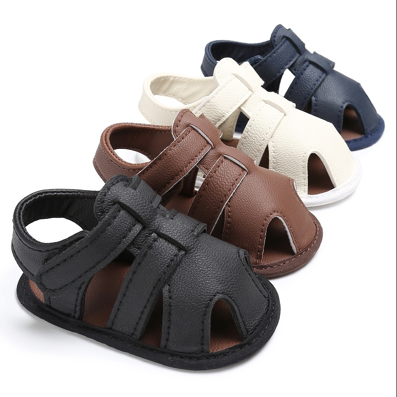 0-18M Toddler Kids Baby Boys Sandals Soft Soled PU Leather ...