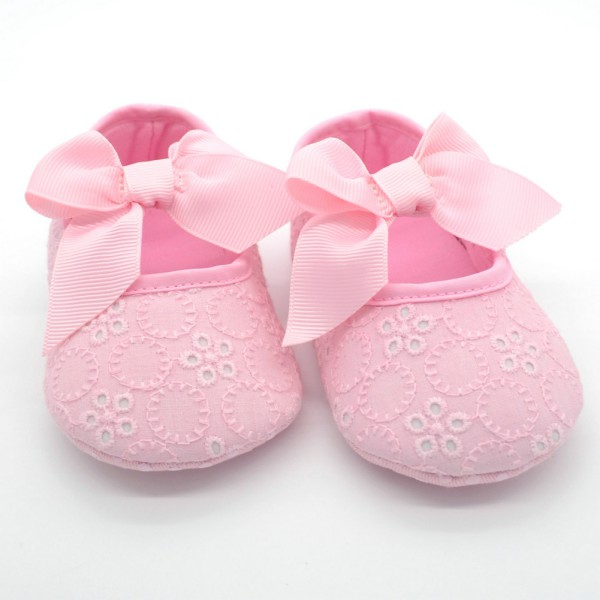 Toddler Baby Dress Shoes Infant Girls Ribbon Flower Soft ...
