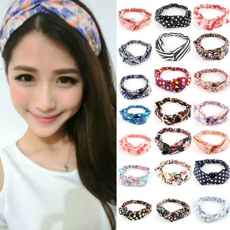 Details about Fashion Girl Women Yoga Elastic Turban Floral Twisted Knotted Hair  Band Headband 60b140ce141