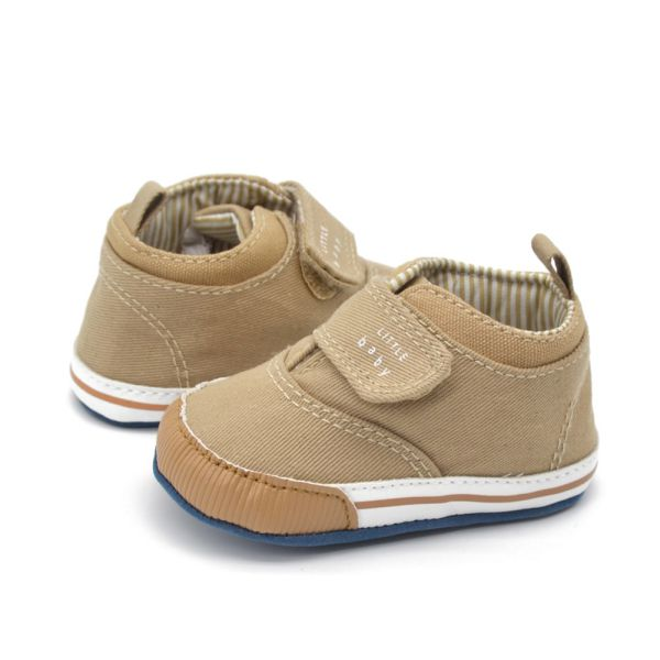 Lovely Baby Boys Cotton Ankle Canvas High Crib Shoes Kid