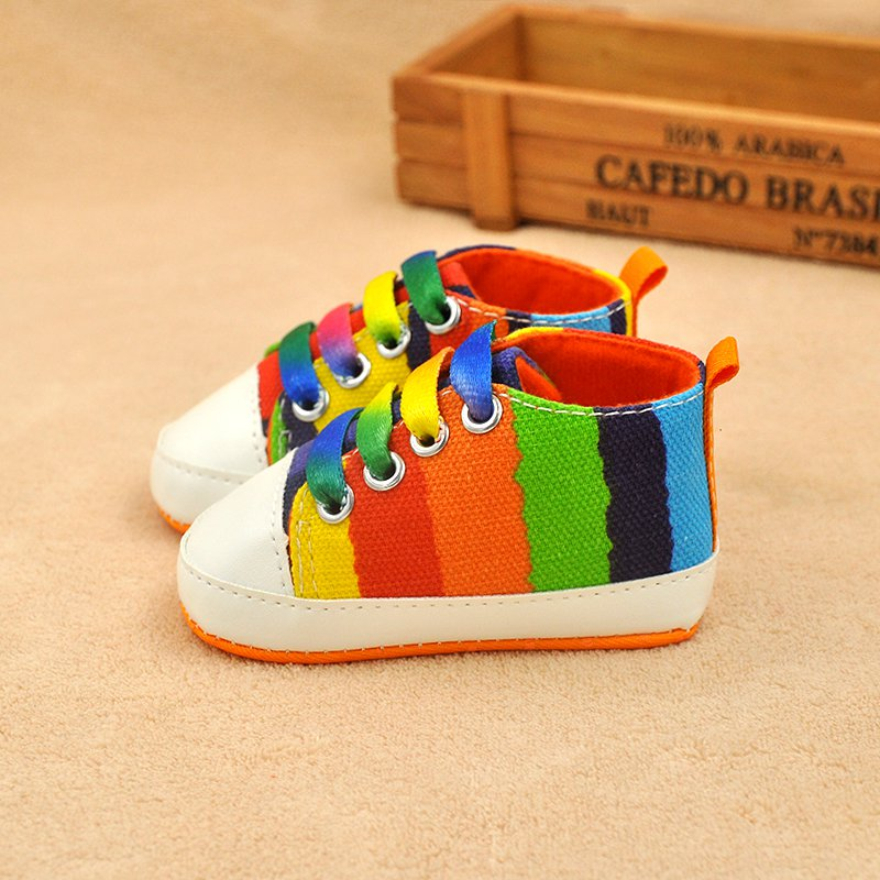 c9ce1b43c7c9 Toddler Baby Boys Girls Soft Sole Crib Shoes Infant Sneaker Newborn ...