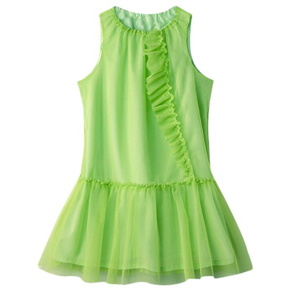 Girl Kid Baby Child Light Green Sleeveless Princess