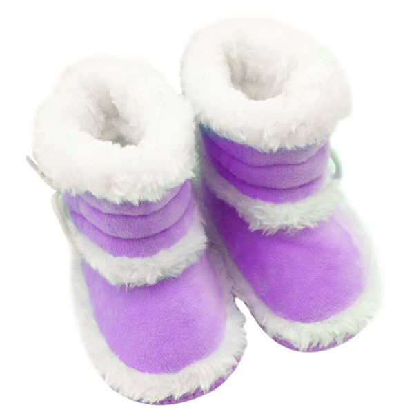 Toddler Baby Girls Winter Warm Snow Boots Faux Fur Booties