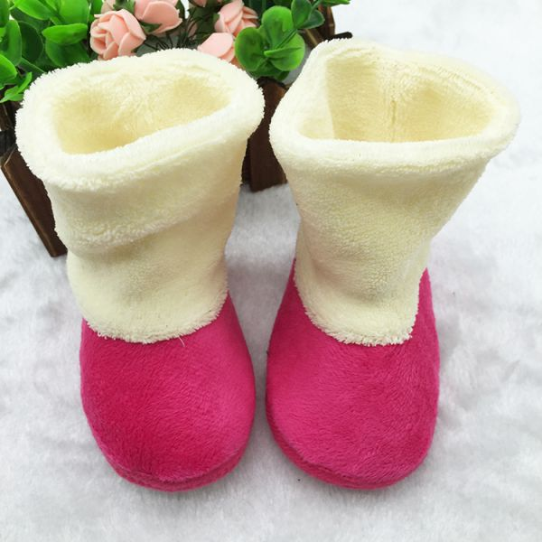 Cute Baby Child Boys Girls Warm Snow Boots Fur Winter Toddler Crib ...