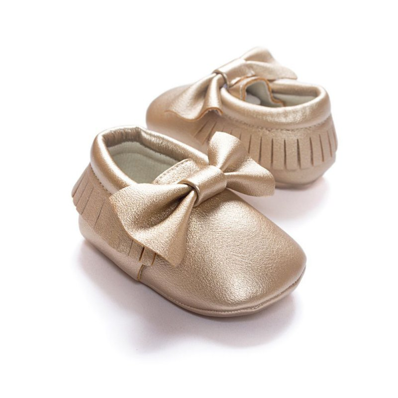 Toddler Baby Moccasin Tassel Soft Sole Leather Shoes