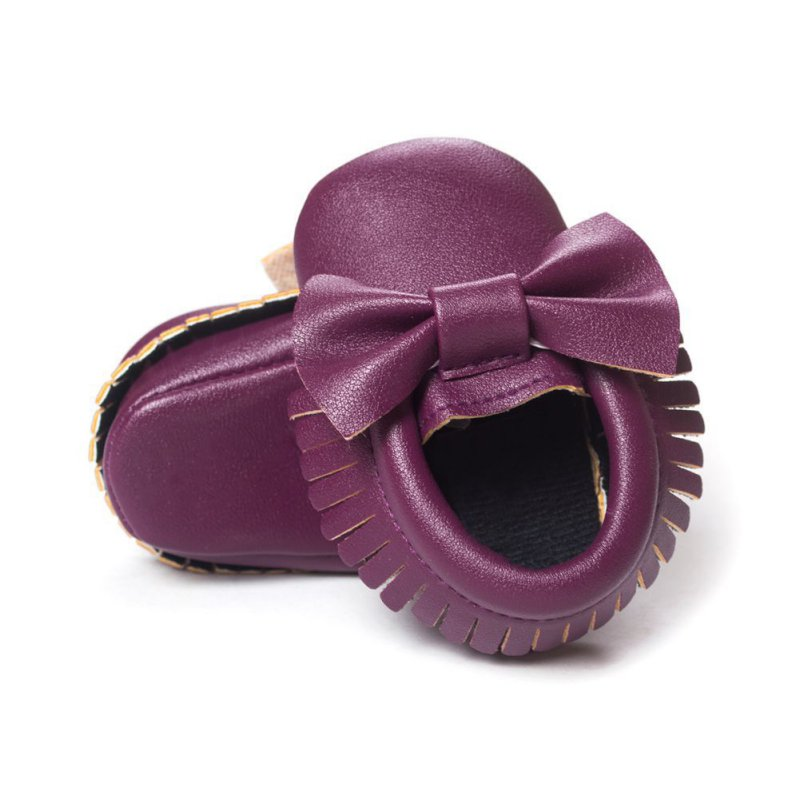 Baby Soft Sole Leather Crib Shoes Infant Boy Girl Toddler