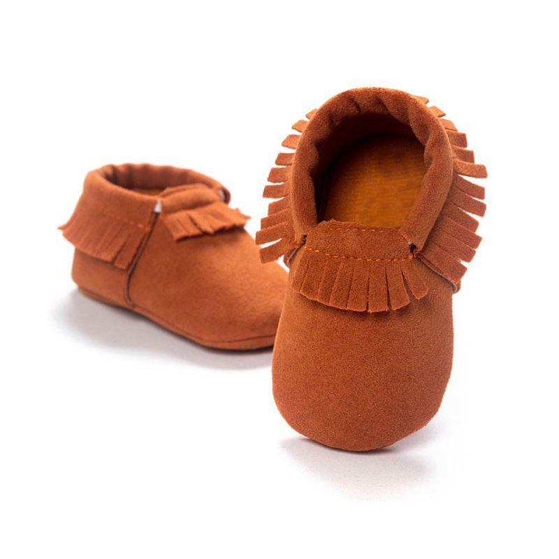 Baby Tassel Soft Sole Leather Shoes Infant Boy Girl