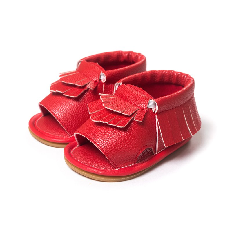 Stylish Baby Soft Sole Leather Shoes Toddler Boy Girl