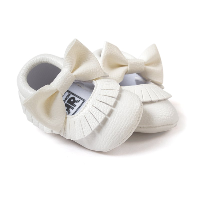 Cute Baby Tassel Soft Sole Leather Shoes Infant Boy Girl