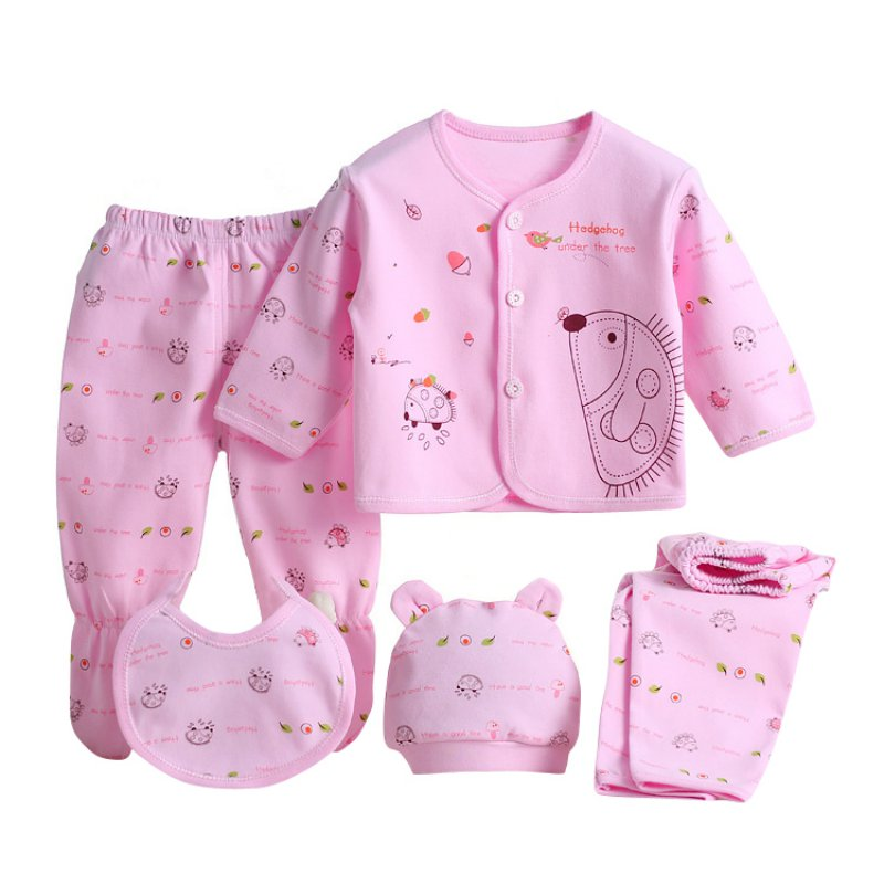 5pcs neugeborenen baby girl boy shirt pants hut gebot set outfits kleidung ebay. Black Bedroom Furniture Sets. Home Design Ideas