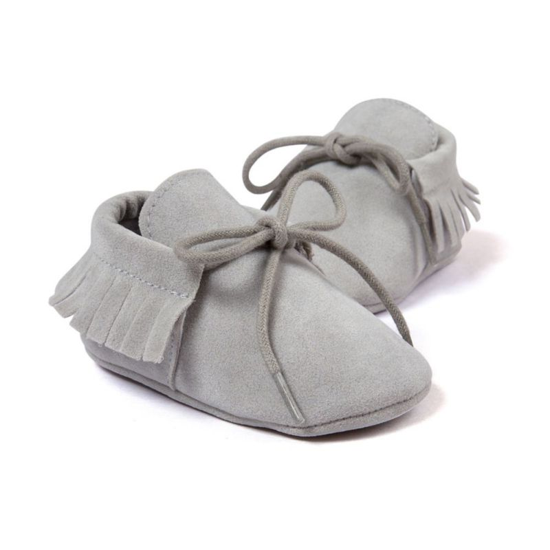 baby tassel soft sole leather shoes infant boy