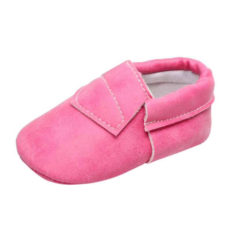 Infant Baby Soft Sole Leather Shoes Candy Color Kids Boy