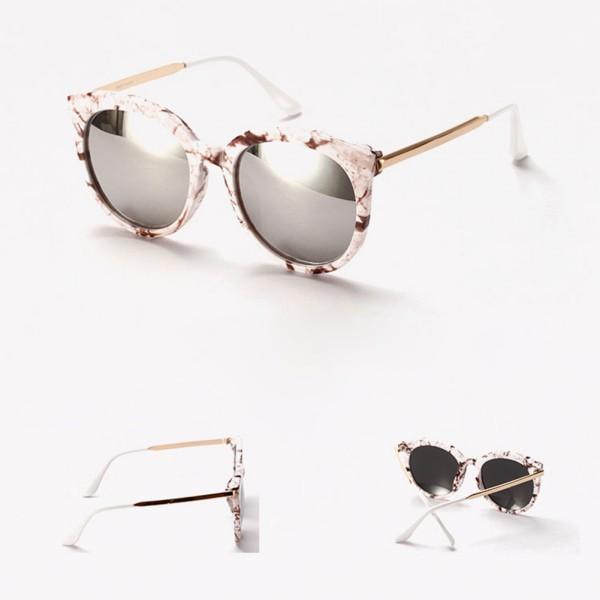 Retro Womens Vintage Shades Oversized Round Frame Sunglasses Eyewear Fashion