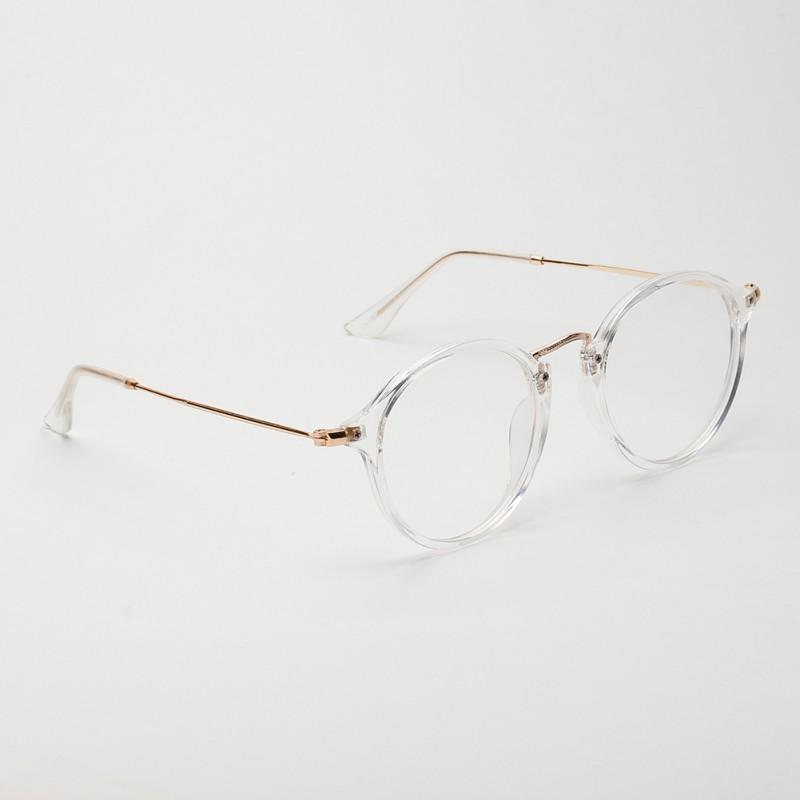 Stylish Unisex Vintage Style Glasses Metal Frame Clear ...