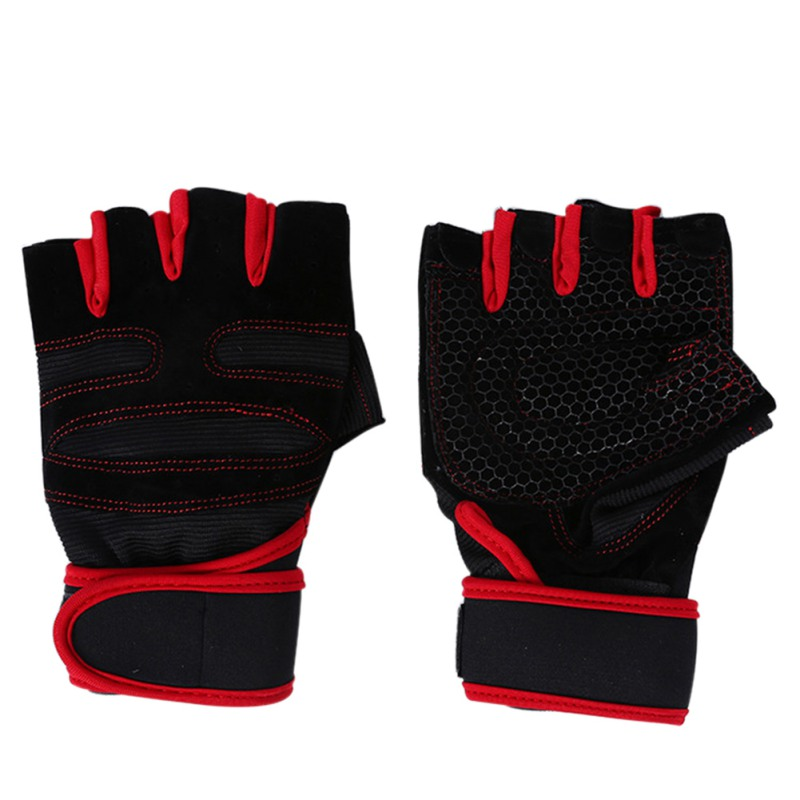 Fitness Weight Lifting Gloves: Men Workout Exercise Gym Training Fitness Gloves Sports