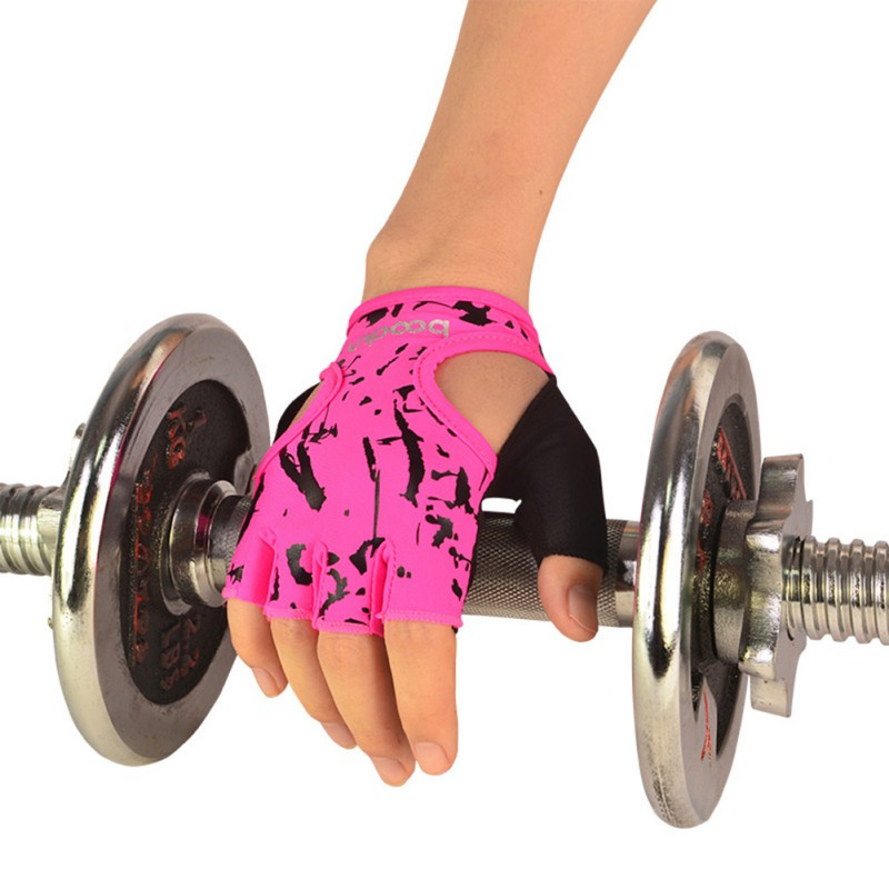 Outdoor Fitness Gloves: Outdoor Sports Gloves Women Foral Yoga Sport Training Half