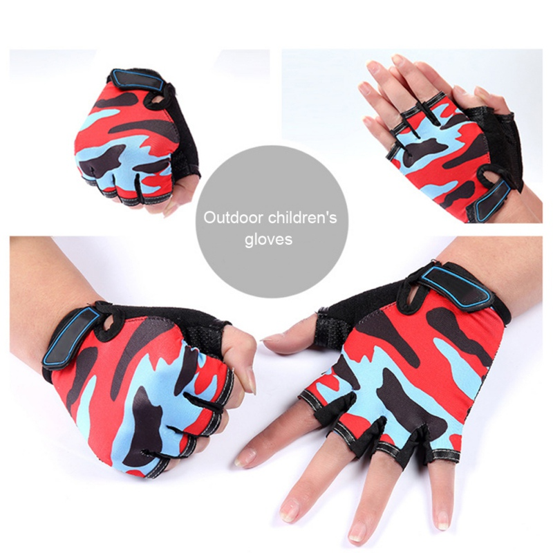 Kids-Child-Cycling-Half-Finger-Gloves-Boys-Girl-MTB-BMX-Bike-Bicycle-Scooter-US miniature 10