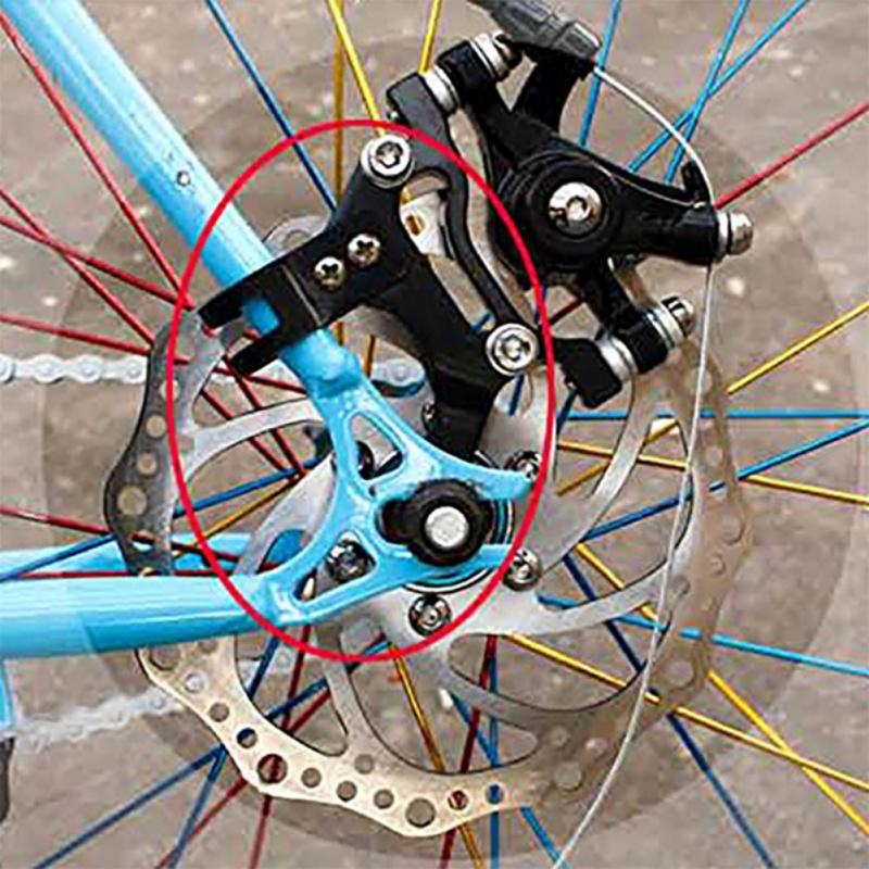 MTB Bicycle Mountain Bike Rack Disc Brake Bracket Frame Adapter Mounting Holder
