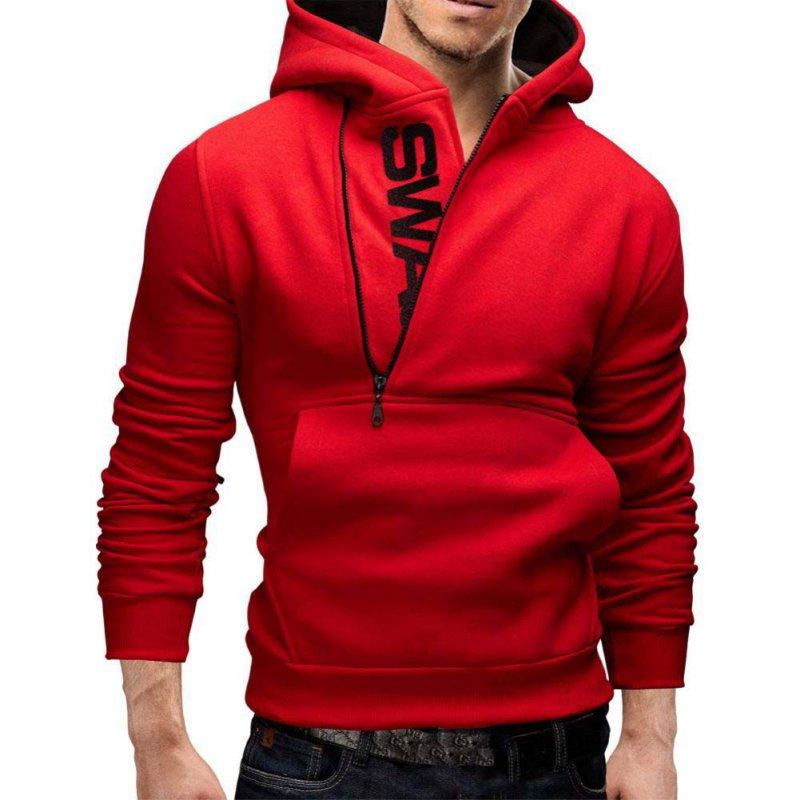 New Men Slim Hoodie Warm Hooded Sweatshirt Coat Jacket Outwear ...