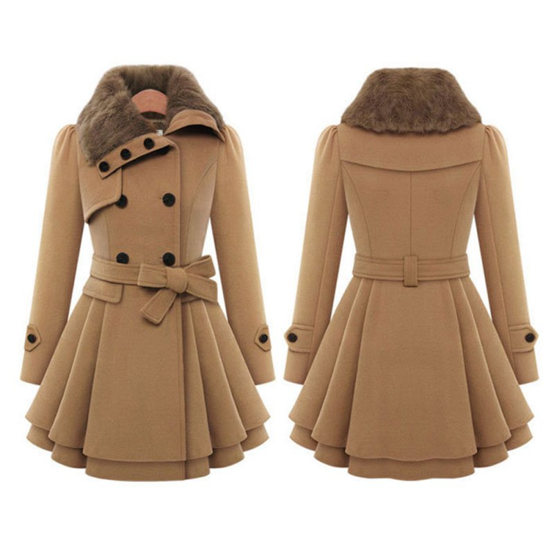 Fashion Women Lady Winter Warm Long Lapel Windbreaker Parka Coat ...