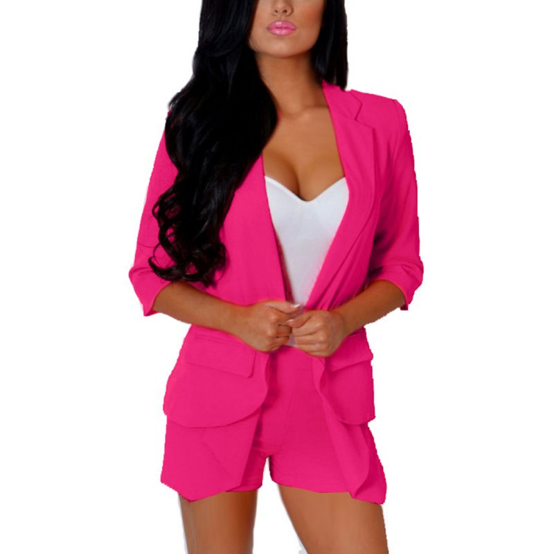 Candy Colors Women's Fashion Solid Slim Casual Suit Blazer ...