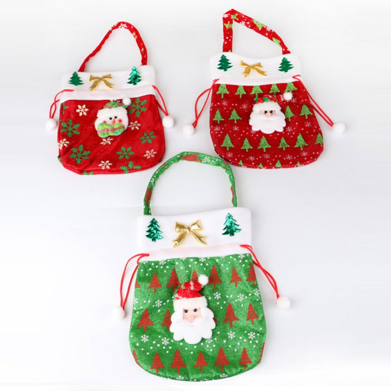 Santa claus snowman gift bag candy handbag xmas tree